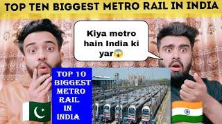 Top 10 Biggest Metro System In India Reaction By|Pakistani Bros Reactions|