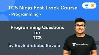 TCS Ninja Fast Track course   Programming Questions for TCS   C- Programming   Ravindrababu Ravula