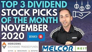 Top 3 Dividend Stock Picks Of the Month For Passive Income Investing - November  2020