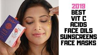 THE BEST SKINCARE 2019 - TOP VIT C, ACIDS, FACE OIL, SUNSCREEN, FACE MASKS | BEST OF BEAUTY INDIA
