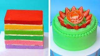 Top 10 Beautiful Cake Decorating Tutorials | Most Satisfying Colorful Cake Decorating Ideas