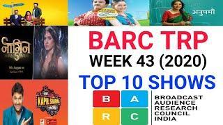 BARC Trp of Week 43 (2020)    Top 10 Indian Serials    TRP Of This Week
