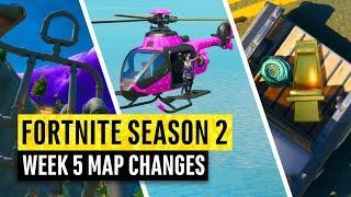 Fortnite | All Season 2 Map Updates and Hidden Secrets! WEEK 5 (chapter 2)