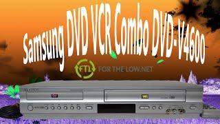 The Best Samsung DVD VCR Combo Player VHS Player and Recorder DVD-V4600 Product Demonstration
