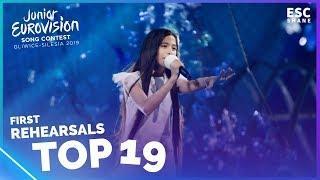 Junior Eurovision 2019 - TOP 19 First Rehearsals