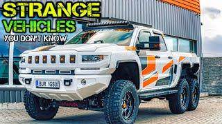 ✅ Strangest Vehicles Ever Made | Most Unusual Vehicles