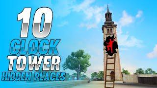 Top 10 Hiding Places in Clock Tower | Free Fire Rank Push Tips | Free Fire Clock Tower Hidden Places