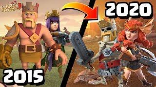 Clash of Clans Rewind - What's Changed? | Playing CoC in 2015 vs 2020 (Old Clash Vs. New Clash 2020)