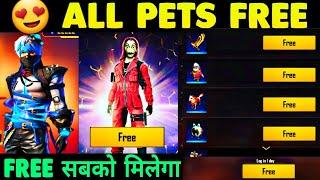 Free All Pets in Free Fire   Money Heist Event Full Detail 2020   Next Weapon Royal  