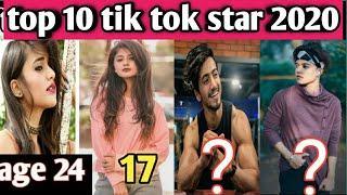 India top 10 tik tok star // age , hometown tik tok star 2020