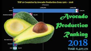 Avocado Production Ranking | TOP 10 Country from 1961 to 2018