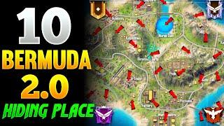 Top 10 New Hidden Places In Bermuda Remastered | Free Fire Secret Places In Bermuda 2.0