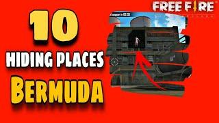 FREE FIRE Top 10 Hidden Place In Bermuda Map [RANKED MATCH]