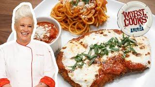 How to Make Veal Parm with Anne Burrell   Worst Cooks in America