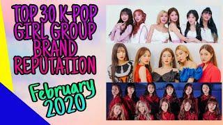 Top 30 K-Pop Girl Group Brand Reputation Rankings for February 2020