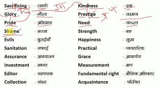 100 English Word Meaning / How to Read English /अंग्रेज़ी से हिंदी / How to Learn Word / Word Power