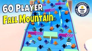 *NEW* 60 PLAYER FALL MOUNTAIN?!? - FALL GUYS WTF & Funny Moments #185
