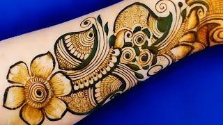 VERY BEAUTIFUL LATEST SIMPLE EASY FLORAL ARABIC HENNA MEHNDI DESIGN FOR FRONT HAND