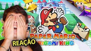 REACT Paper Mario: The Origami King | Minha reação e o que achei!