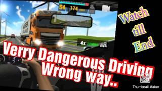 Top 10 dangerous car driving wrong way // Overtrack Car driving // Top 10 Android games..