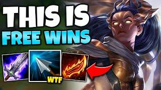 VAYNE TOP IS A LITERAL CHEAT CODE! DESTROY ANY TOP LANER WITH THIS (FREE WINS) - League of Legends
