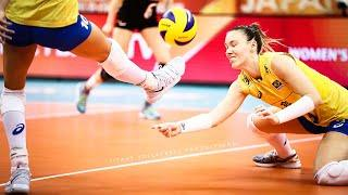 Top 30 Amazing FOOT SAVES ( FOOT GAME) - BEST Women's Volleyball Actions