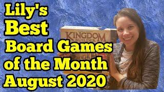 Lily's Top Board Games of the month: August 2020 (Board Games of the Bride)