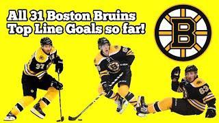 All 31 Boston Bruins Top Line Goals (So Far) 2019-20 Season