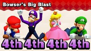 Mario Party The Top 100 MiniGames Mario Vs Waluigi Vs Peach Vs Luigi (Master Difficulty)