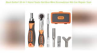 Top Seller! 38 in 1 Hand Tools Set Box Mini Screwdriver Bit Car Repair Tool Professional Socket Wre