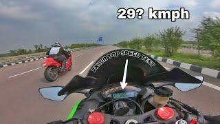 """Kawasaki ZX10R"" failed in TOP SPEEED"