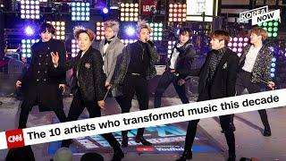 """BTS named on CNN's """"The 10 artists who transformed music this decade"""" list"""