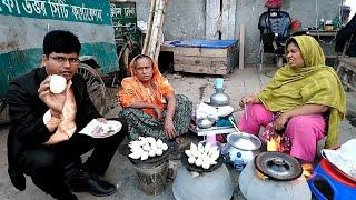 Best Hard Working Mother & Daughter Selling Tasty Food Recipe Mera Pitha 4 piece Tk 20 only.