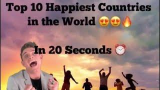 Top 10 Happiest Countries in the World | Happy Country |Best Place | Travel | Your Favourite Place