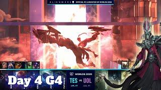 TES vs UOL | Day 4 Group D S10 LoL Worlds 2020 | Top Esports vs Unicorns of Love - Groups full game