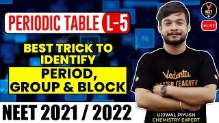 Periodic Table L-5 | Best Trick To Identify Period, Group and Block | NEET 2021 | NEET Chemistry