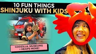 Top 10 FUN Things to do in SHINJUKU with Kids | Tokyo 2020 Travel Tips