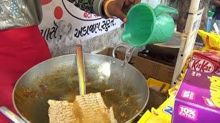 It's a Breakfast Time in Surat Street | Famous Ganesh Maggi Corner | Masala Maggi & Pasta @ 30 Rs