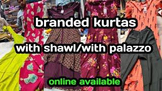 Branded top ₹375 onwards/with shawl/palazzo/office wear/casual wear kurtas/#vijisamayal