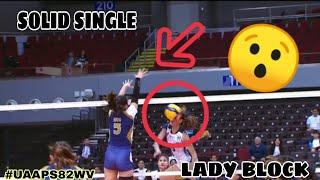 TOP 10 SOLID SINGLE-LADY BLOCK by the PLAYERS | UAAP SEASON 82 WOMEN'S VOLLEYBALL