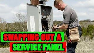 Emergency Service Call in BFE - QUICK ELECTRICAL SERVICE PANEL SWAP