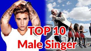 Most popular male singer in the world|| Top 10 most popular male singers|| Top 10 famous male singer