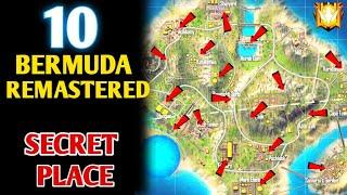 TOP 10 HIDDEN AND SECRET PLACE IN BERMUDA REMASTERED MAP - GARENA FREE FIRE