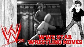 WWE WRESTLING MOVES SHOWN BY WRESTLING KID FAN