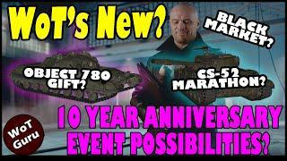WoT's New?! 10 Year Anniversary Event Possibilities & SuperTest Update