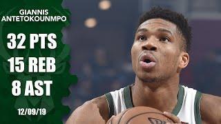 Giannis Antetokounmpo posts 32-point, 15-rebound double-double vs. Magic | 2019-20 NBA Highlights