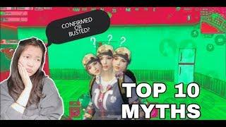 TOP 10 MYTHBUSTERS IN PUBG MOBILE || GIRL GAMER 15J || PUBG MYTHS #2