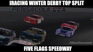 Top Split Short Track Action - 2019 iRacing Winter Derby at Five Flags