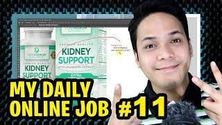 Daily Online Job 11 - Apat Na Beses Akong Na Mali Sa Spelling, Pa Check Check Pa Kunyari