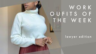 WORK OUTFITS OF THE WEEK | business casual workwear